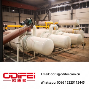 Fully continuous waste tire pyrolysis oil  machine