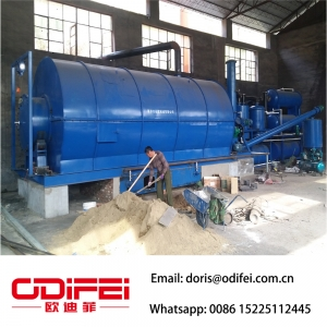 Pyrolysis machine / waste tyre recycling plant