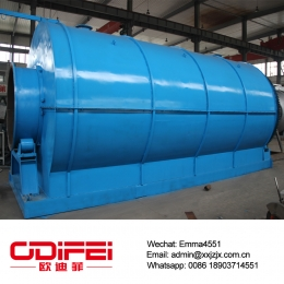 China 10 tons waste tire pyrolysis equipment factory