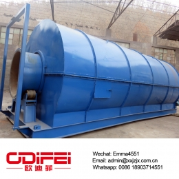 China Batch type waste rubber pyrolysis plant factory