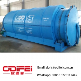 China Batch type waste tire pyrolysis oil equipment factory