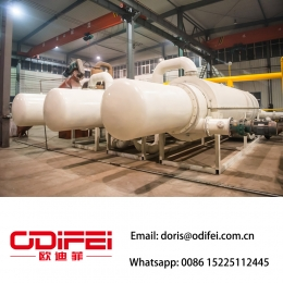 Fully continuous waste rubber pyrolysis machine
