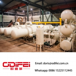 Fully continuous waste rubber  pyrolysis oil  machine