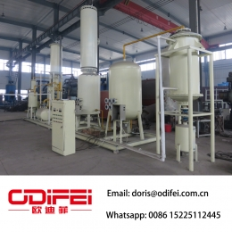 High efficiency used engine oil refining machine
