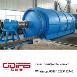 China No pollution batch type waste tire pyrolysis oil equipment factory