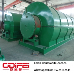 China Waste rubber pyrolysis fuel oil equipment factory
