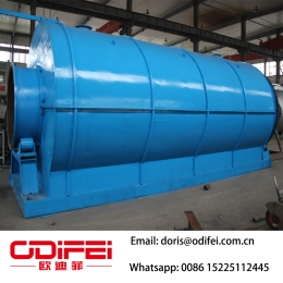 China Waste tire recycling pyrolysis plant factory