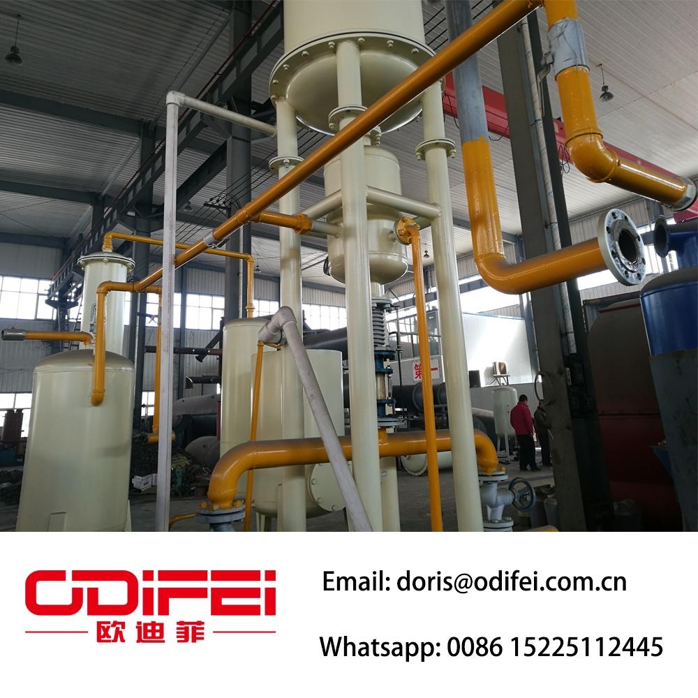 Machine de raffinage d 39 huile de vitesse utilis e continue for Refining used motor oil